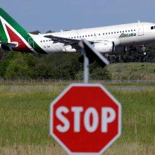 """Streikuoja Italijos oro linijos """"Alitalia"""" ir """"Air Italy"""""""