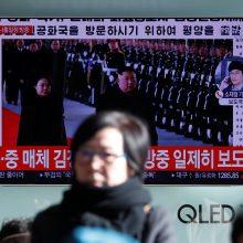 Kim Jong Unas atvyko vizito į Kiniją