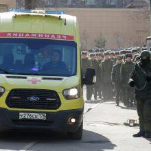 Sankt Peterburge per sprogimą karo akademijoje sužeisti trys žmonės