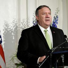 M. Pompeo: JAV neatmeta galimybės jėga atsakyti į Irano veiksmus