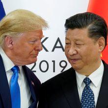 D. Trumpas: JAV ir Kinijos derybos dėl prekybos jau prasidėjo