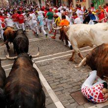 Per greičiausią bėgimą su buliais Pamplonoje niekas nebuvo subadytas