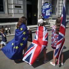 """Britanija ir ES toliau griežtina pozicijas dėl """"Brexit"""""""