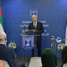 Izraelio diplomatijos vadovas pradeda istorinį vizitą JAE