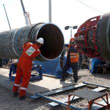 """""""Nord Stream 2"""" pirmoji gija užpildyta techninėmis dujomis ir paruošta veikimui"""