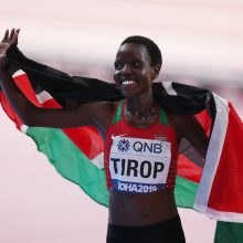 Olimpinės bėgikės vyras stojo prieš teismą dėl įtariamo jos nužudymo