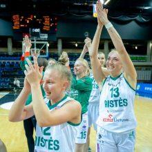 """""""Aisčių-LSMU"""" komanda – pirmoji moterų krepšinio lygos finalo dalyvė"""