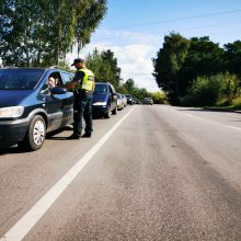 Savaitgalį Kaune patikrinta 1,5 tūkst. vairuotojų