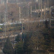 Kim Jong Uno traukinys išvyko iš Kinijos