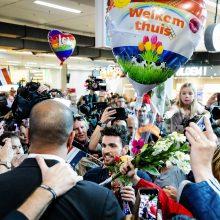 """""""Eurovizijos"""" nugalėtojas grįžo namo"""
