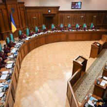 Ukrainos prezidentas teisme gina savo sprendimą paleisti parlamentą