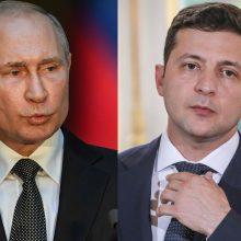 V. Zelenskis paprašė V. Putino pažaboti separatistus