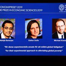 Nobelio ekonomikos premiją laimėjo trys amerikiečių ekonomistai
