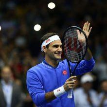 Šveicarijos teniso legenda R. Federeris: nematau priežasčių sustoti