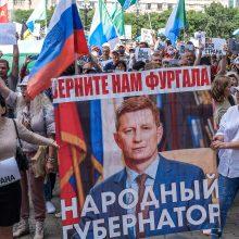 Naujuose protestuose prieš Kremlių dalyvavo tūkstančiai žmonių
