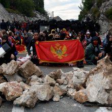 Juodkalnijoje vykstant protestams inauguruotas naujasis ortodoksų lyderis