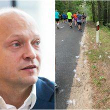 N. Mačiulį papiktino per bėgimo renginį mėtomi plastikiniai puodeliai