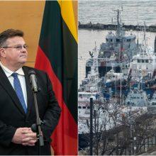 L. Linkevičius: grąžinusi Ukrainai laivus Rusija nepadarė nieko ypatingo
