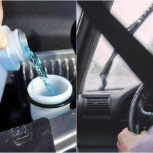 Automobilio langų plovikliai: prekyboje vis dar daug sveikatai kenksmingų produktų