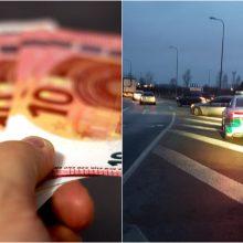 Mažeikių rajone vairuotojas pareigūnams siūlė 2 tūkst. eurų kyšį