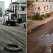 Neramina gatvės remontas Žaliakalnyje: bus problemų dėl lietaus nuotekų?