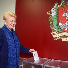 Prezidentė balsavo savivaldos rinkimuose: buvo lengva išsirinkti