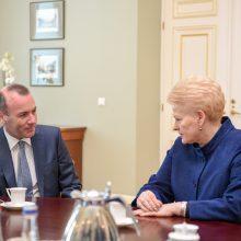 Prezidentė susitiko su didžiausios EP frakcijos vadovu