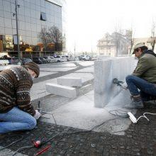 Ferdinando skvero rekonstrukcija: nekantriems klaipėdiečiams tvora – ne kliūtis