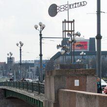 Žaliąjį tiltą papuošė keturios vertybių vėjarodės