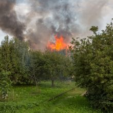 Kaune po gaisro sodo namelyje rastas šeimininko kūnas