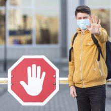 Geltona spalva signalizuoja: būtina išlikti budriems