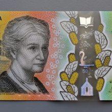 Ant Australijos banknoto kelis mėnesius nepastebėta rašybos klaida