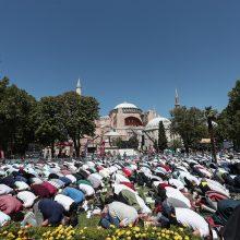 Graikija pasmerkė Stambulo Šv. Sofijos soboro virsmą mečete