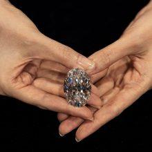 """Aukcione Honkonge parduotas """"nepriekaištingas"""" deimantas"""