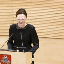 V. Čmilytė-Nielsen: prezidento sprendimas dėl ministrų nenustebino