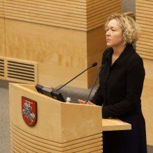 S. Rudėnaitė paprašė KT išaiškinimo dėl pareigų Aukščiausiajame Teisme
