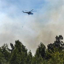 Rusijos kariuomenė pasiuntė lėktuvų miškų gaisrams Sibire gesinti