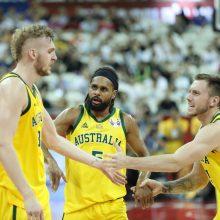 Australija nugalėjo Čekiją ir žengė į pasaulio čempionato pusfinalį