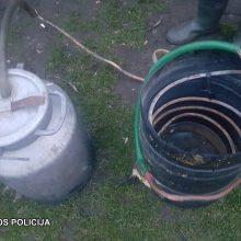 Šalčininkų policija aptiko ir naminės degtinės, ir aparatą jai gaminti