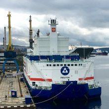 Rusija į Arkties vandenyną paleidžia plaukiojantį branduolinį reaktorių