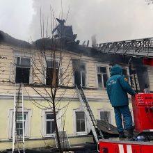 Rusijoje per gaisrą daugiabutyje žuvo septyni žmonės, įskaitant penkis vaikus