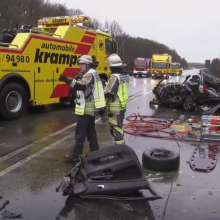 Kraupi avarija Vokietijoje: žuvo trys lenkai