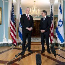 JAV žada palaikyti Izraelį, nesvarbu, kas stovės prie jo vyriausybės vairo