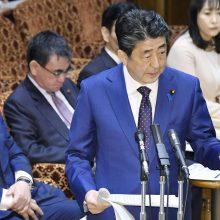 Japonijos premjeras: olimpiados atidėjimas gali būti neišvengiamas