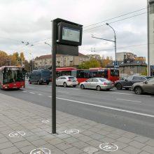 Vilniuje keleivių patogumui – 20 naujų švieslenčių stotelėse