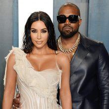 JAV garsenybė K. Kardashian skiriasi su reperiu K. Westu
