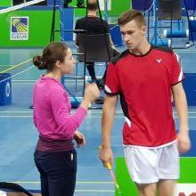 Lietuvos badmintonininkai Slovėnijoje žengė į ketvirtfinalį