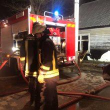 Ugniagesiai skubėjo į Talino gatvę gesinti užsiliepsnojusio apleisto namo