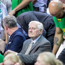 Lietuvos ir Serbijos krepšinio rinktinių rungtynes stebėjo prezidentas G. Nausėda