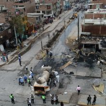 Peru sostinėje Limoje sprogus autocisternai žuvo 8 žmonės, 48 – sužeisti
